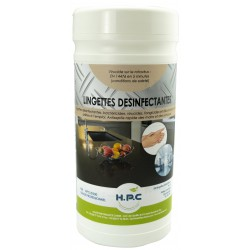 LINGETTES DESINFECTANTES MAINS & SURFACES ALIMENTAIRES - EN 14476 VIRUCIDE - SANS RINÇAGE