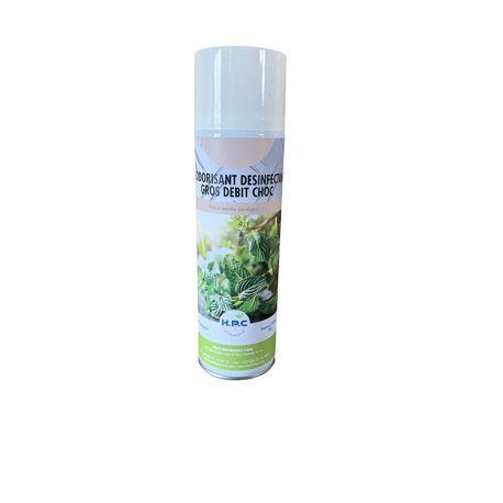 DESODORISANT DESINFECTANT LONGUE PORTEE Parfum menthe eucalyptus-Aérosol 650/500ML